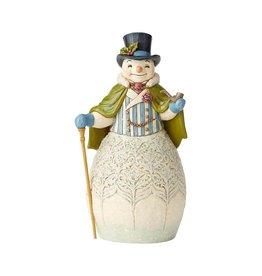 Victorian Snowman w/ Cape & Cane Jim Shore