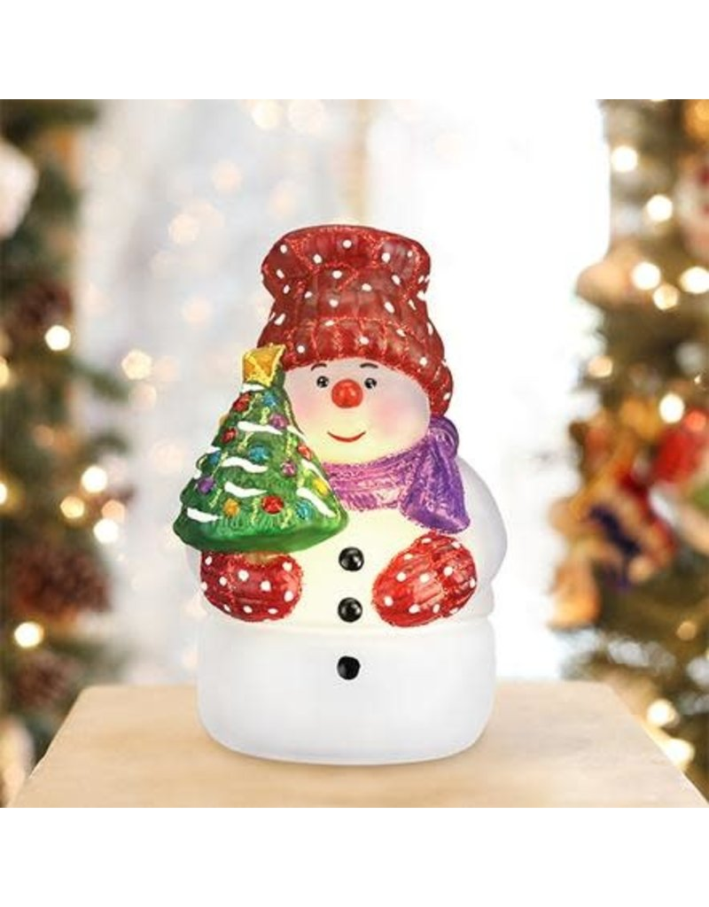 SNOWMAN WITH TREE CANDLE LIGHT