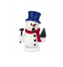 Miniature Smoker Snowman with Tree