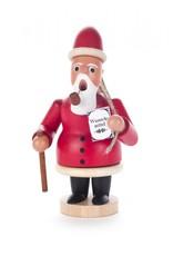 Smoker Santa with Woode Sack Red