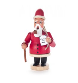 Smoker Santa with Woode Sack Red