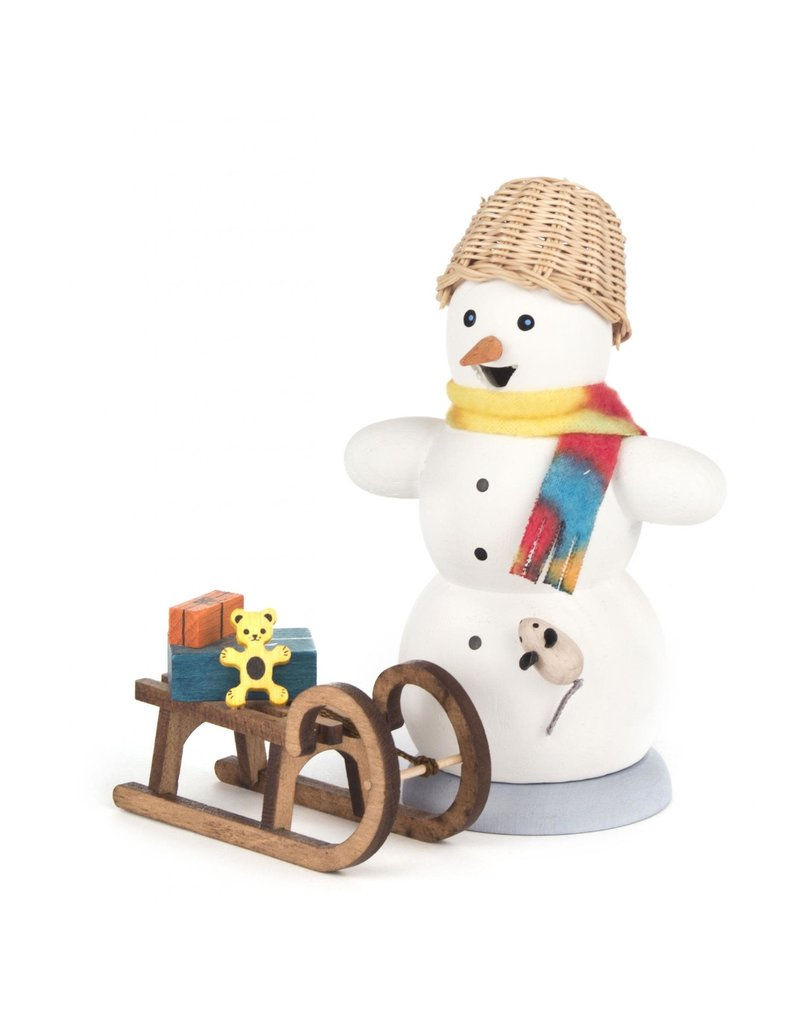 Smoker Snowman with Sleigh