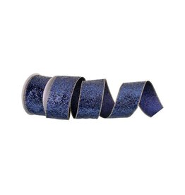 "2.5"" x 10y Glamor Glitter Wired Midnight Blue"