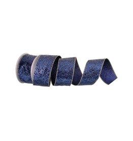 "2.5"" x 10y Glamor Glitter Wired Midnight Blue"