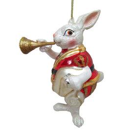 Rabbit w/Horn Orn