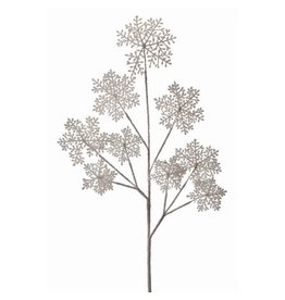 "36"" Frosted Snowflake Spray (Frost/White)"