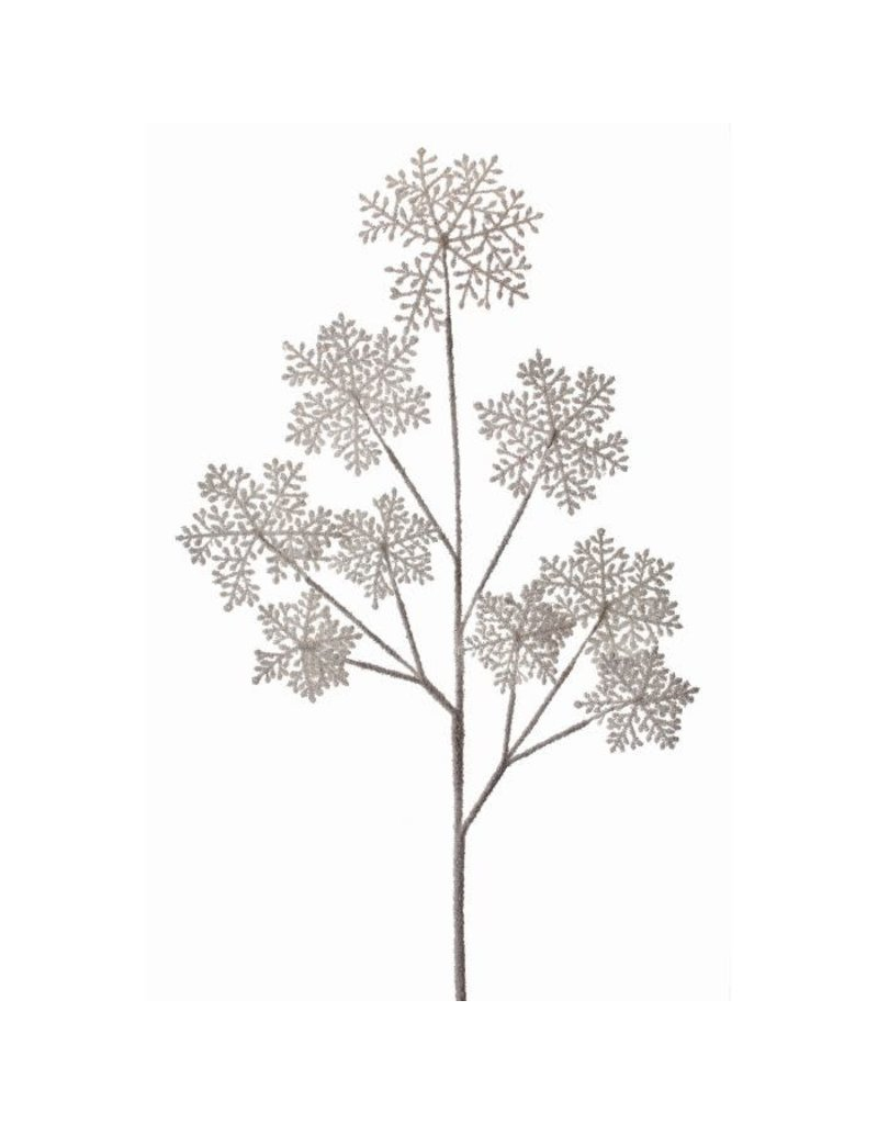 """36"""" Frosted Snowflake Spray (Frost/White)"""