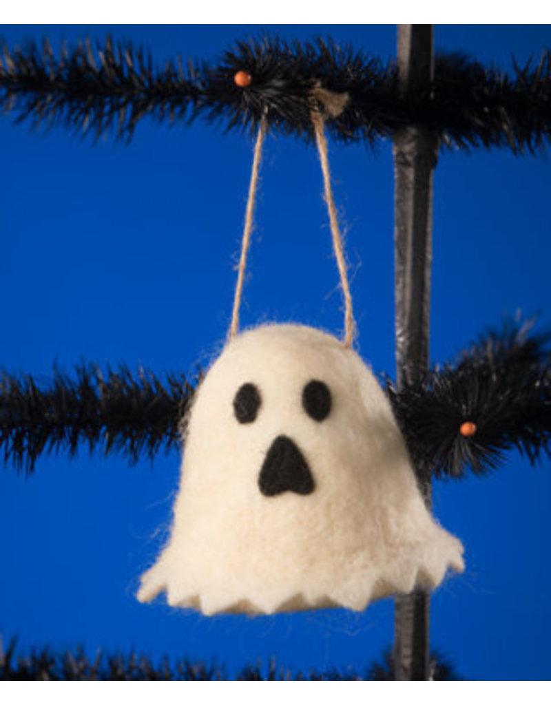Felted Ghost Ornament
