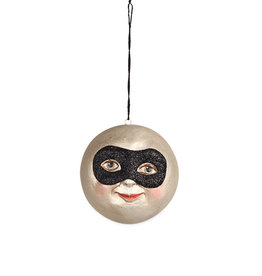 masked moon ornament