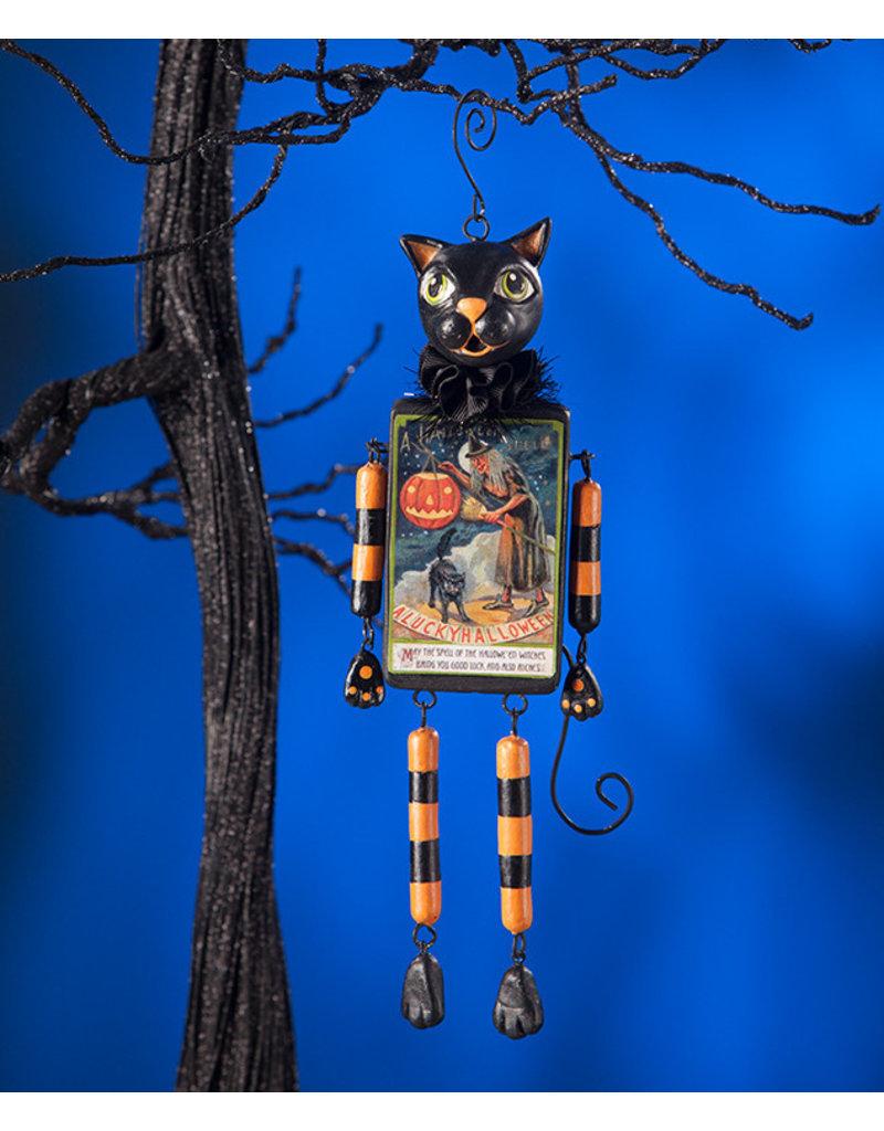 black cat dangle ornament