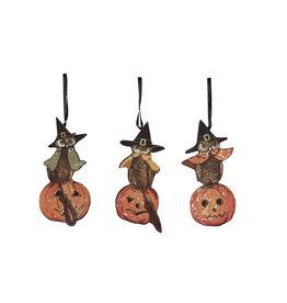 halloween owl dummy board ornament