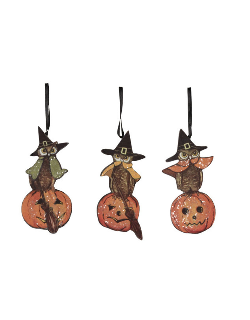 halloween owl dummy board ornament