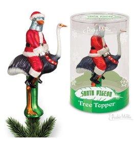 Santa Pigeon Tree Topper