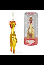 Rubber Chicken Glass Ornament