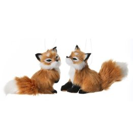 "5"" Furry Fox Orn As2"