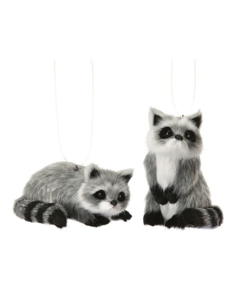 "3.5"" Furry Racoon Orn"