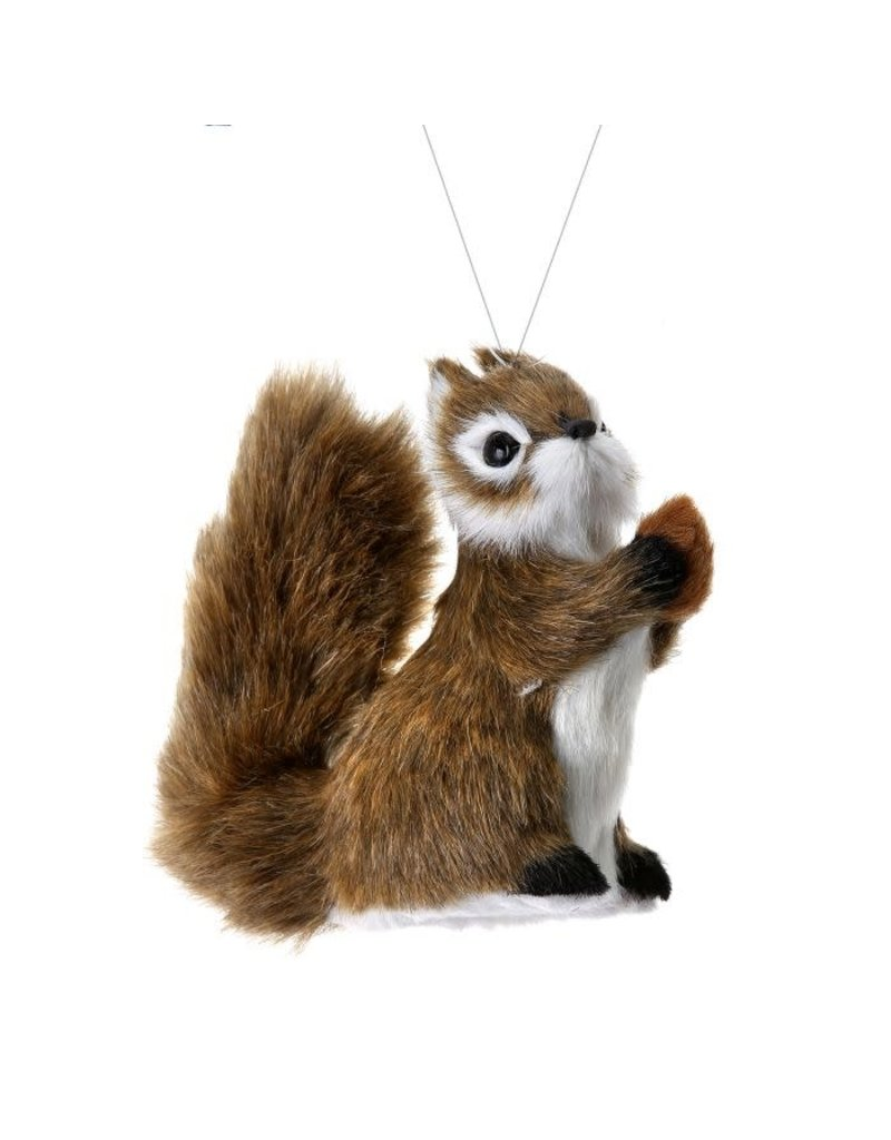 "4.5"" Furry Squirrel Orn Natural"