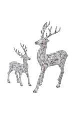 """9-13"""" Bark Standing Deer Set (2)"""