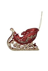 """4.75"""" Red/Green/Gold Sleigh Orn"""