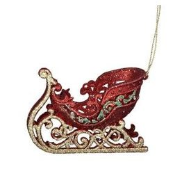 "4.75"" Red/Green/Gold Sleigh Orn"