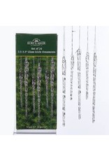 "3.5 - 5.5"" Clear Glass Icicle Orn 24pack"