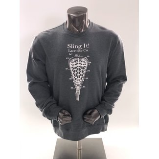 Sling It! Lacrosse Patent Crewneck