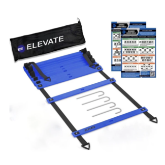 Elevate Agility Ladder with Drill Chart