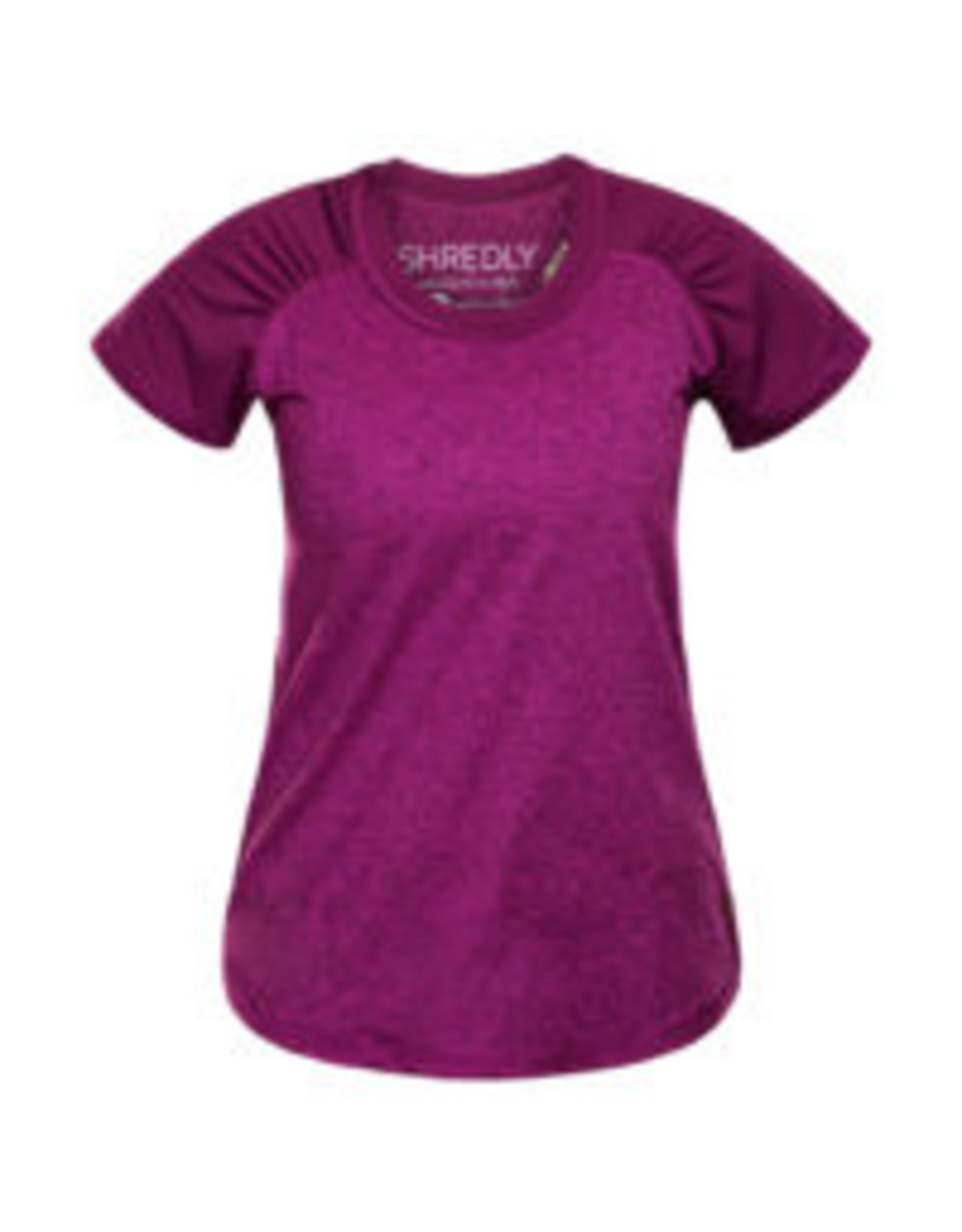 Shredly Shredly - the HONEYCOMB SHORT SLEEVE - Berry - Size L