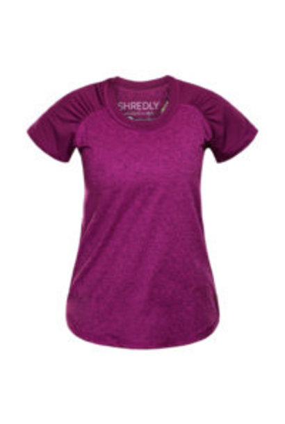 Shredly - the HONEYCOMB SHORT SLEEVE - Berry - Size L