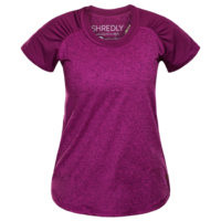 Shredly - the HONEYCOMB SHORT SLEEVE - Berry - Size L-1