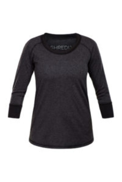 Shredly - the HONEYCOMB 3/4 - Charcoal/Black - Size L