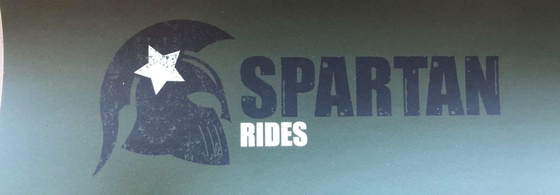 Spartan Rides Bumper Sticker