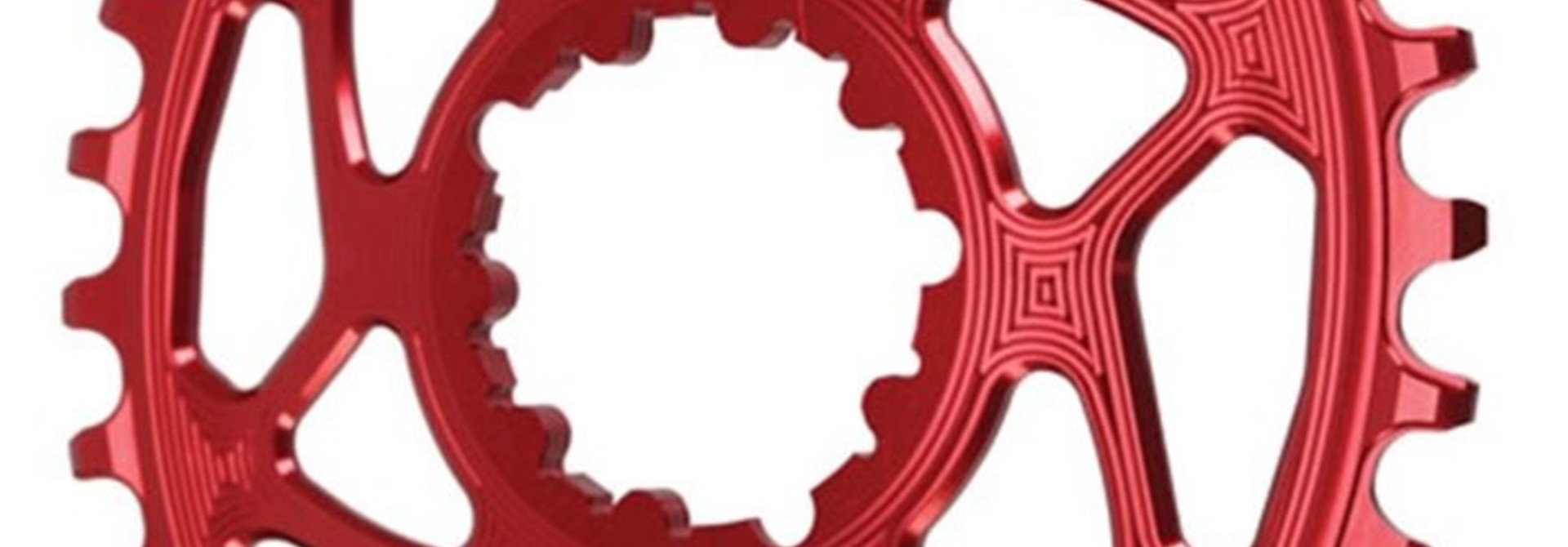 Oval SRAM DM (Boost 3mm Offset) Chainring, 34T - Red