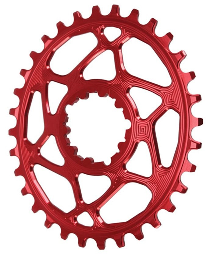 Oval SRAM DM (Boost 3mm Offset) Chainring, 34T - Red-1