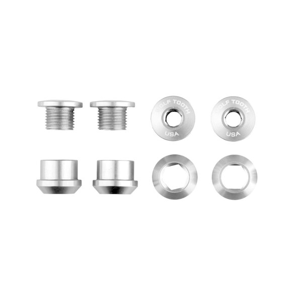 WolfTooth Components Chainring Bolts - Nickel-1