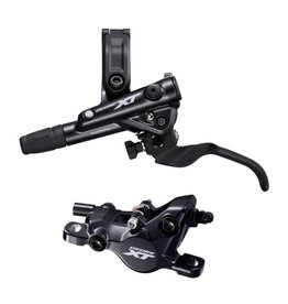 Shimano Shimano Deore XT BL-M8100/BR-M8100 Disc Brake and Lever - Front, Hydraulic, Post Mount, 2-Piston, Black