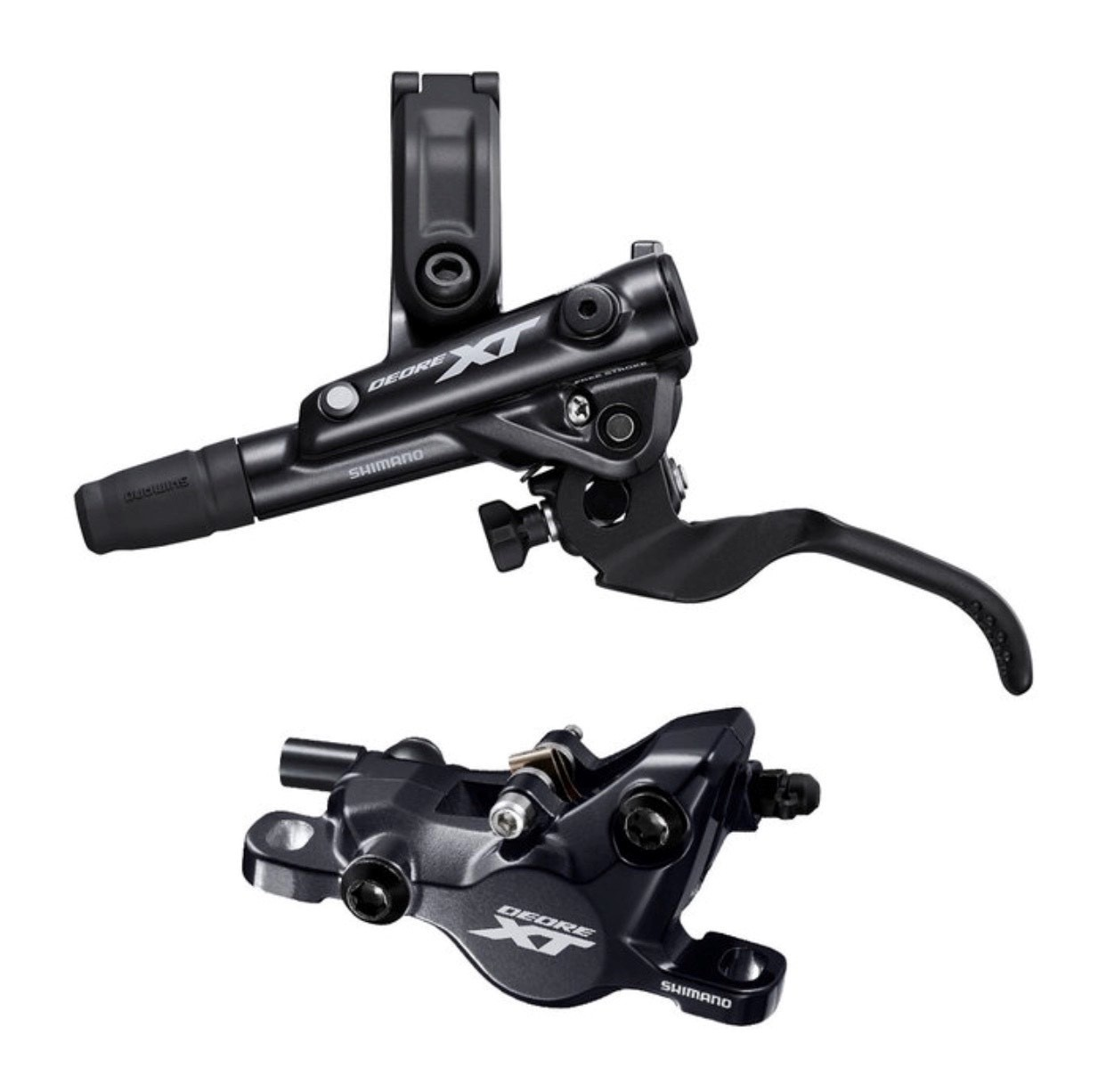Shimano Deore XT BL-M8100/BR-M8100 Disc Brake and Lever - Front, Hydraulic, Post Mount, 2-Piston, Black-1
