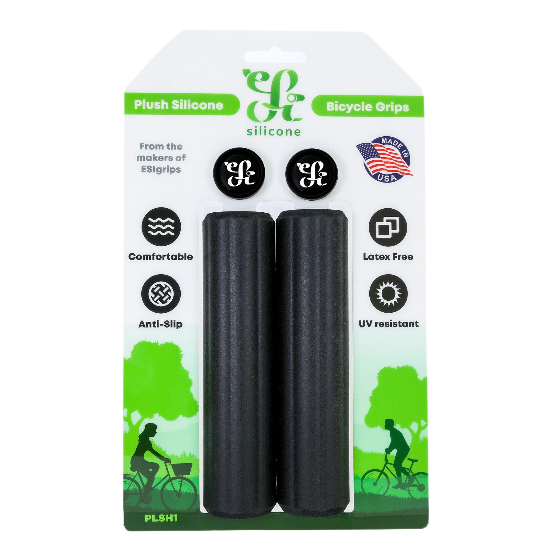 ESI Grips - Plush Silicone Grips, Black-1
