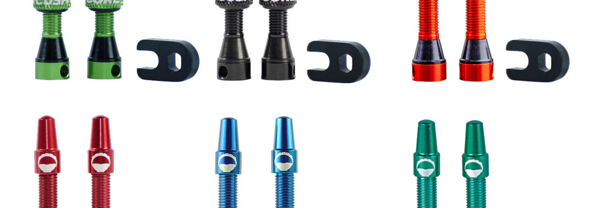 CushCore Compatible 44mm Presta Tubeless Tire Valve Set