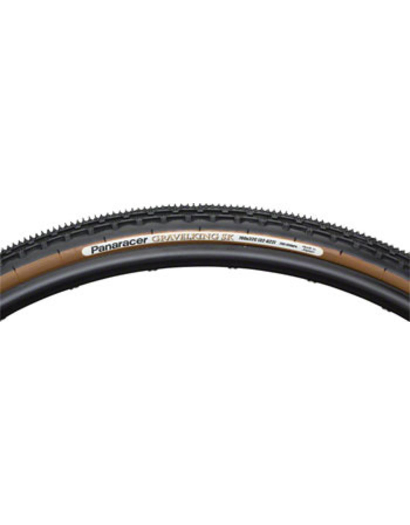 Panaracer Panaracer GravelKing SK Tire - 700 x 38, Tubeless, Folding, Black/Brown