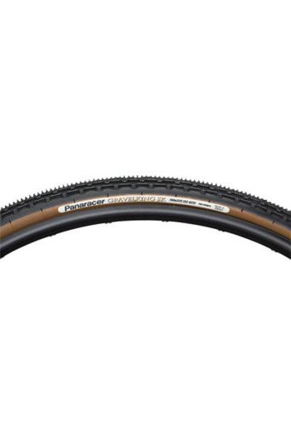 Panaracer GravelKing SK Tire - 700 x 38, Tubeless, Folding, Black/Brown