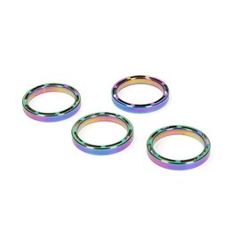 "Supacaz SupaSpacer, HS Spacer, 1-1/8"", 5mm, 4/Bag, Oil Slick"