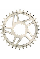 Wolf Tooth Components SRAM 3-Bolt DM Boost HG+ Chainring, 32T - Nickle