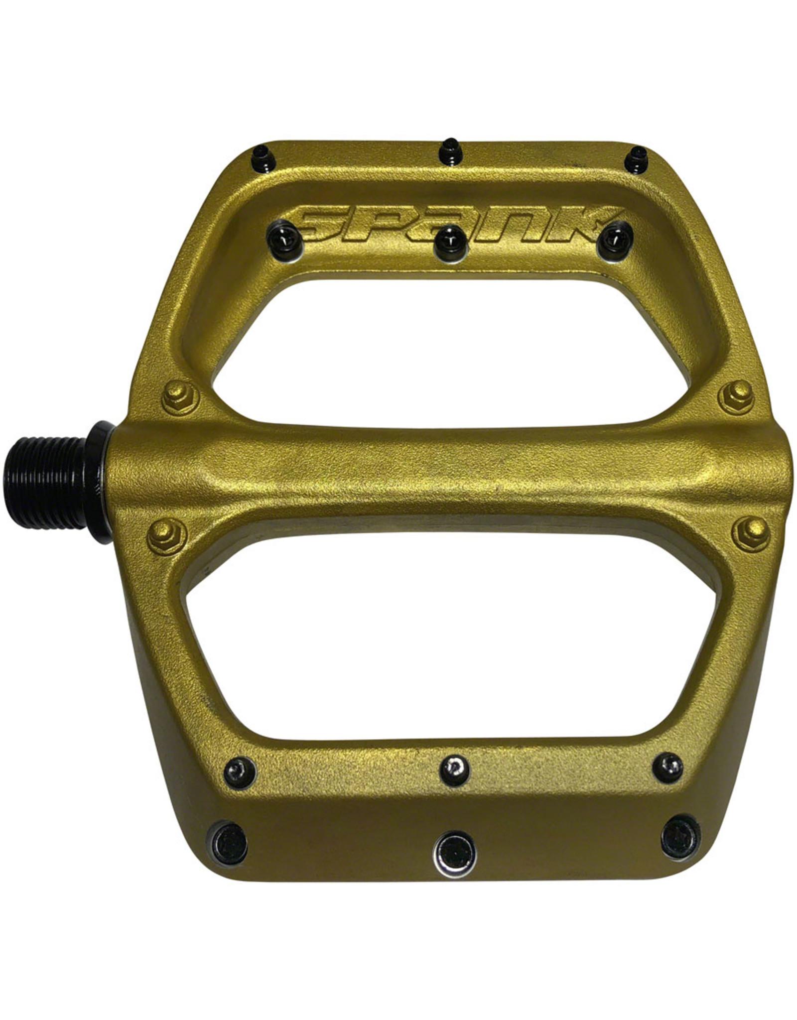"Spank Spank Spoon DC Pedals - Platform, Aluminum, 9/16"", Gold"