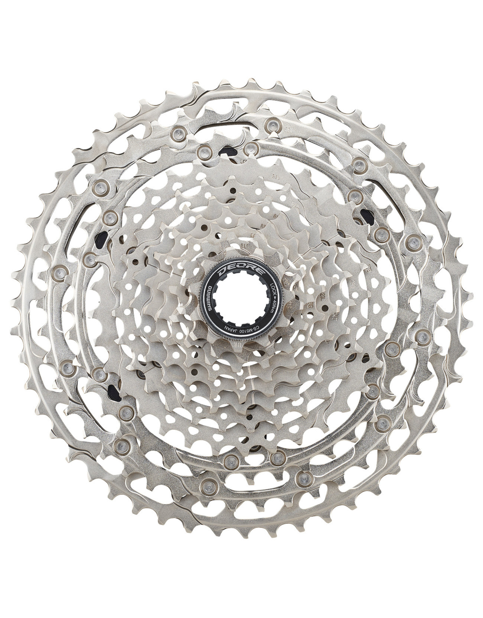 Shimano Shimano Deore CS-M5100-11 Cassette - 11-Speed, 11-51t, Silver