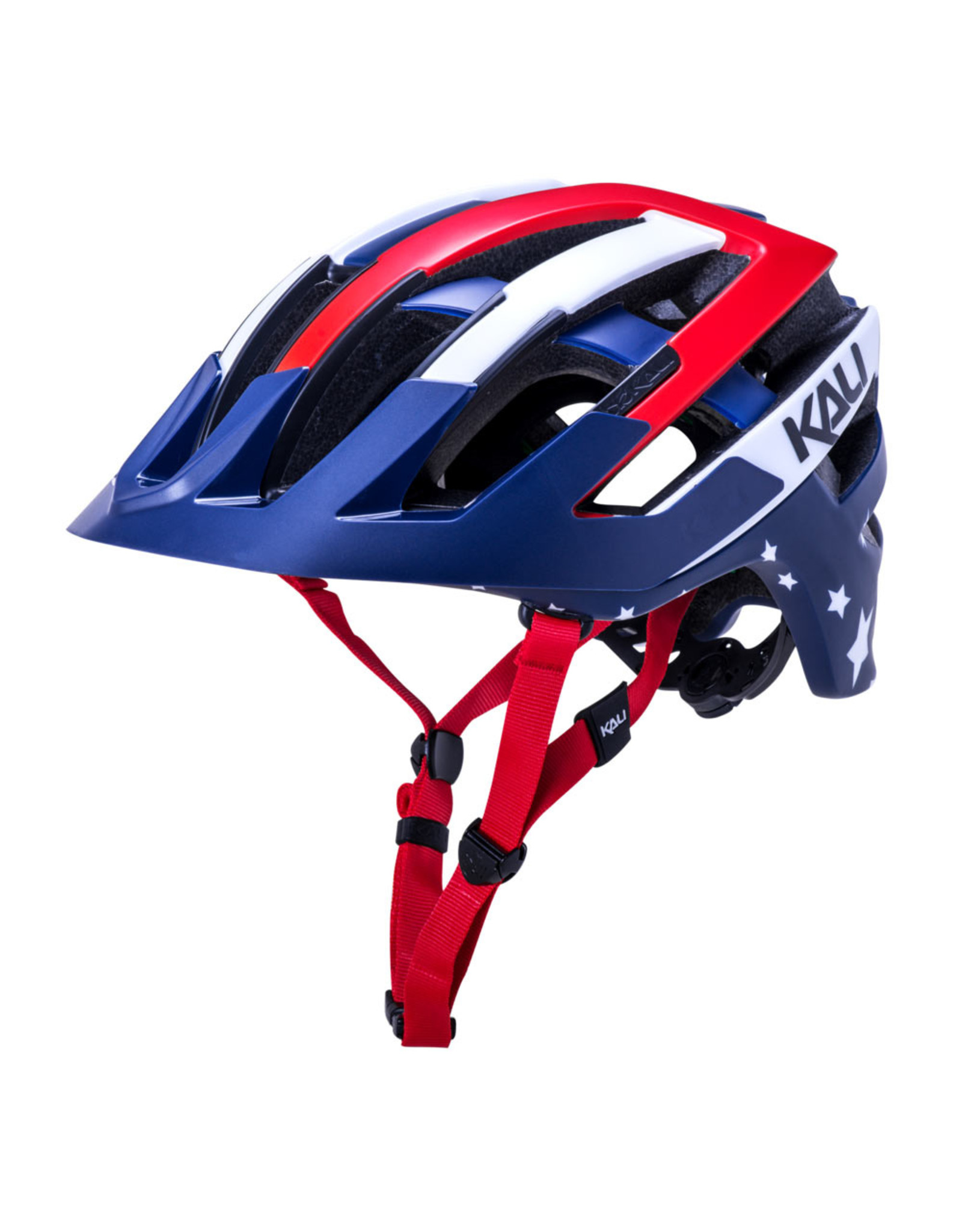 Kali Protectives Kali Protectives Interceptor Patriot Helmet - Red/White/Blue, Large/X-Large