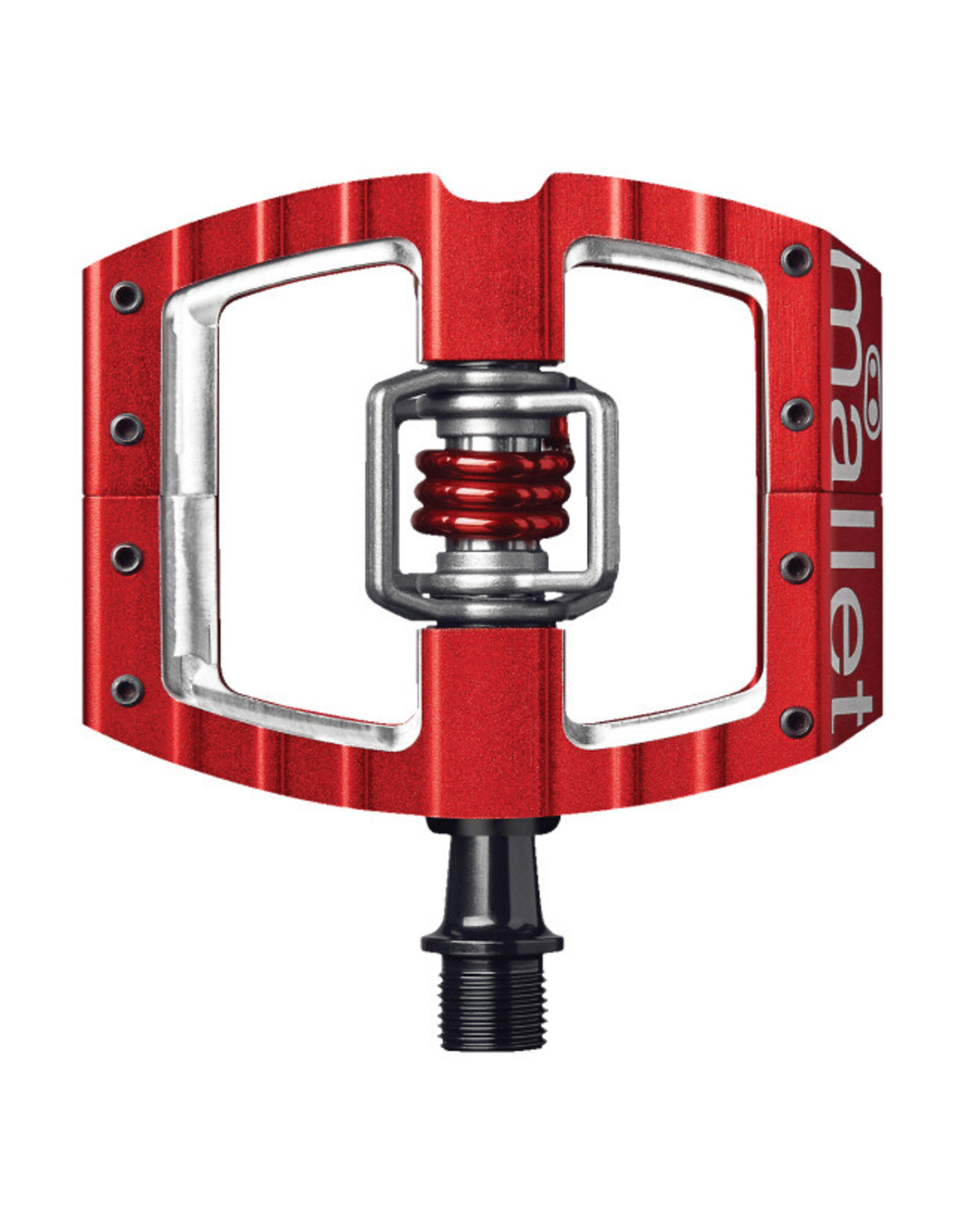 """Crank Brothers Crank Brothers Mallet DH Pedals - Dual Sided Clipless with Platform, Aluminum, 9/16"""", Red"""