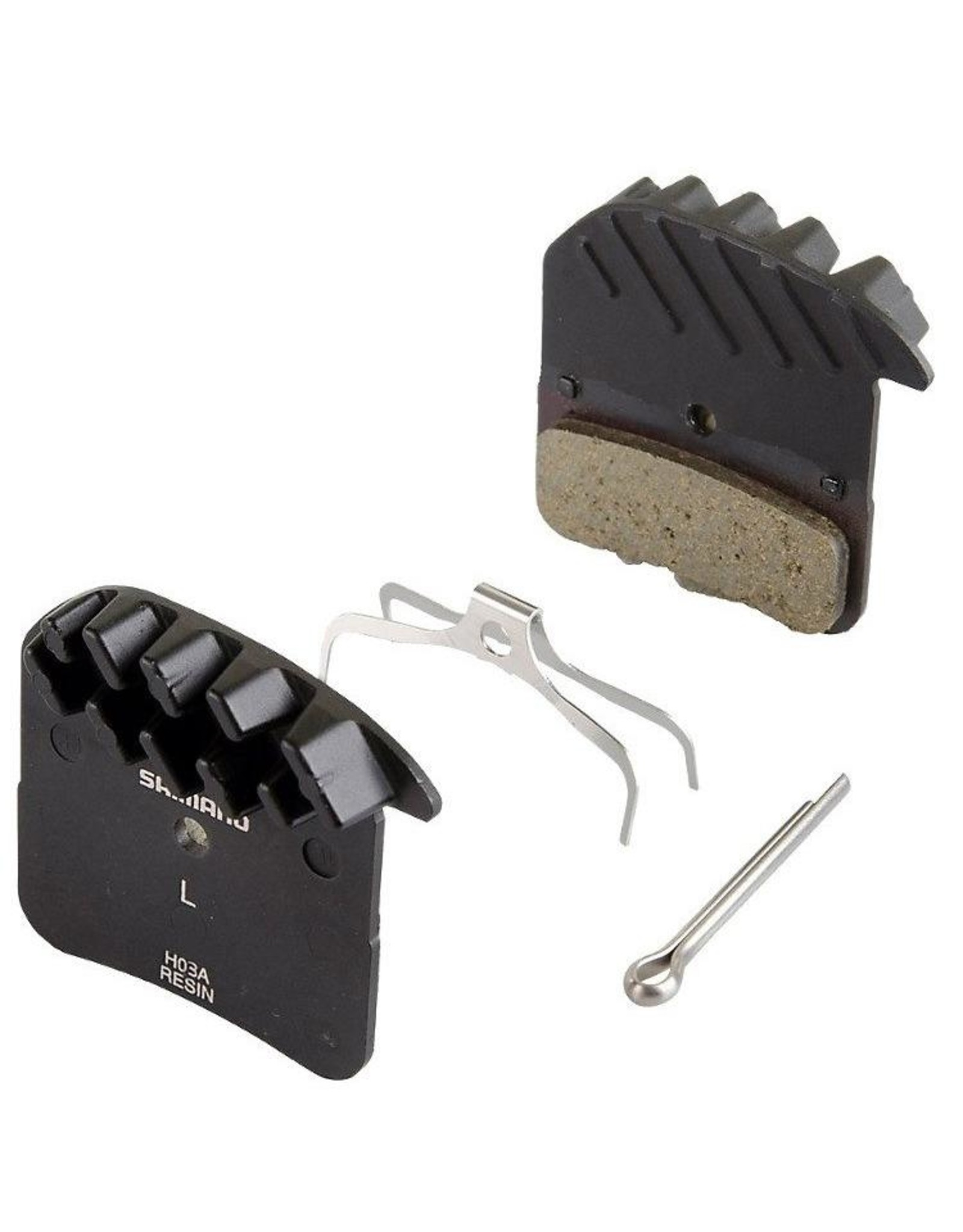 Shimano Shimano H03A Resin Disc Brake Pads and Spring with Fins