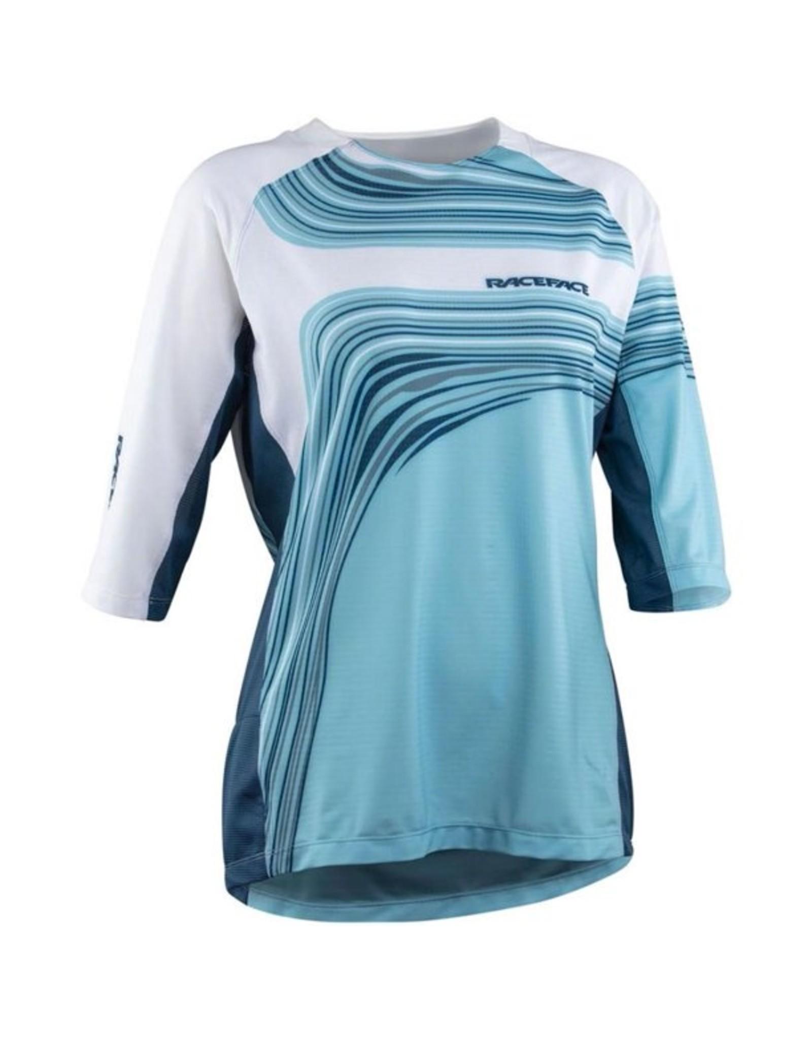 RaceFace Khyber Jersey - Sky, 3/4 Sleeve, Women's, Medium