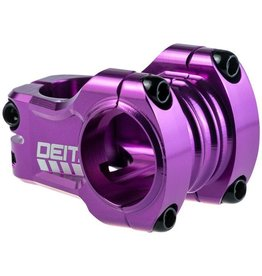 "Deity Components Deity Components Copperhead Stem - 35mm, 31.8 Clamp, +/-0, 1 1/8"", Aluminum, Purple"